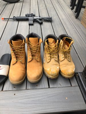 timberland work boots for Sale in Burrillville, RI