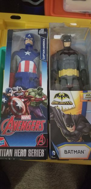 Captain America and batman figures for Sale in Houston, TX