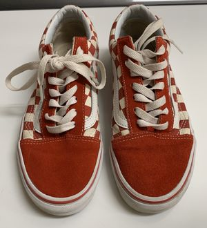 Red Checkered Vans, Women's size 8 for Sale in Palm Beach Gardens, FL