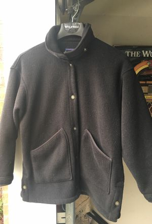 Patagonia Coat Jacket sz Small Poly Blk Button Front for Sale in Stone Mountain, GA