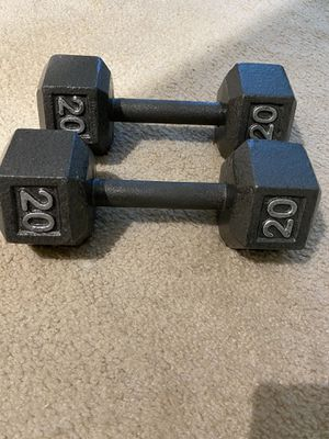 Dumbbell 20Lb set Cast Iron for Sale in Potomac, MD