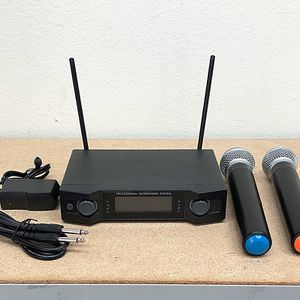 Brand New $50 Audio 2 Channel Receiver UHF w/ 2 Handheld 100m Wireless Microphone LCD Display for Sale in Whittier, CA