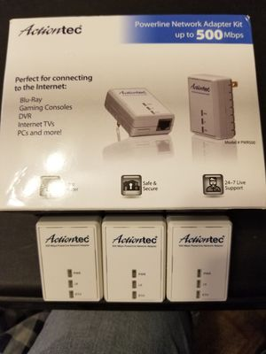 3x Action Tech powerline network adapters for Sale in Tampa, FL