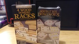 Double six dominoes set and racks. for Sale in Wichita, KS