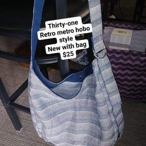 Thirty-one Retro Metro Hobo Style Cloth Purse for Sale in Shorewood, IL