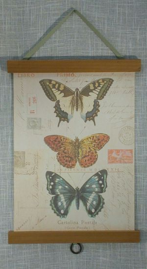 "Butterfly Canvas Wood Wall Hanging 22""x13"" *PICKUP ONLY* home decor, household, pictures for Sale in Mesa, AZ"