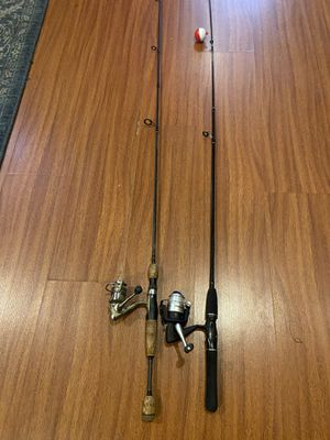 2 combo fishing rods and reels for $70 for Sale in Philadelphia, PA