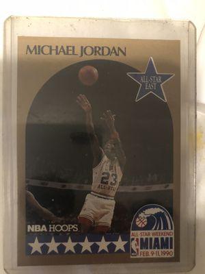 Michael Jordan 90 hoops allstar card for Sale in Oaklyn, NJ