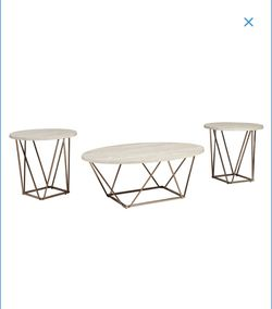 *DARK BROWN* coffee table & 2 end tables for Sale in Davenport,  IA