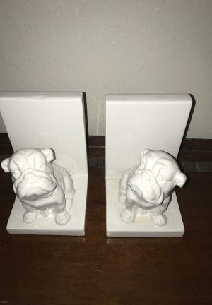Bulldog bookends $5!! for Sale in Clovis, CA