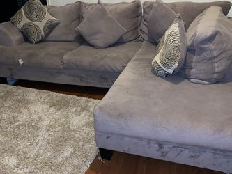 Grey Couch With Ottoman for Sale in Houston,  TX