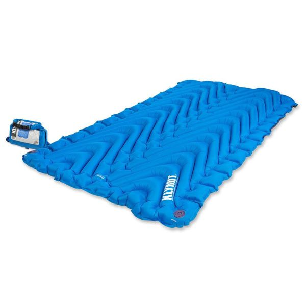 Klymit Double V Two-person Camping Sleeping Pad With Air Pump Bag