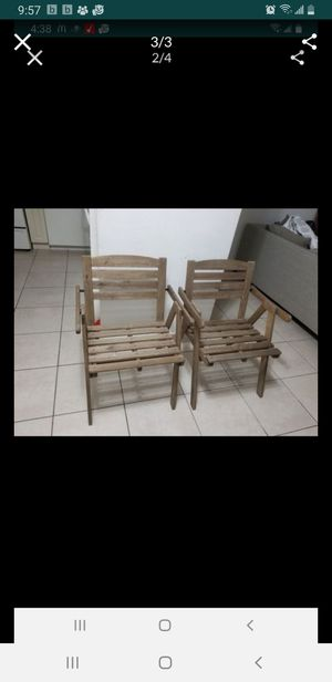 Pair of patio /garden/outdoor chairs for Sale in Miami, FL