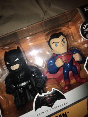 Batman vs Superman action figures memorabilia comics die cast metal figures twin pack for Sale in San Antonio, TX