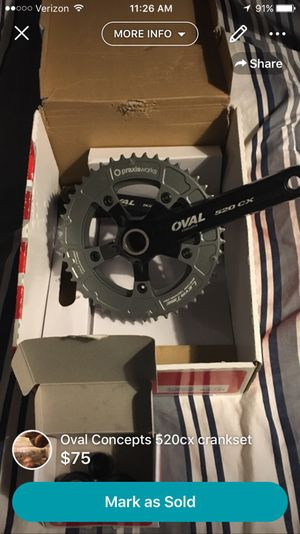 Oval Concepts 520cx crank set for Sale in Sacramento, CA