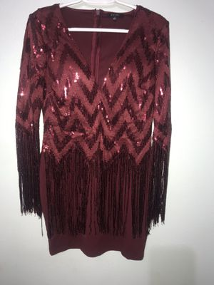Beautiful burgundy dress, Large for Sale in Dallas, TX
