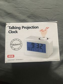 """Alarm Clocks for Bedrooms, Bidason Cool Digital Snooze Projection Alarm Clock with 3.5"""" LED Display, Cube Office Desk Alarm Clock, Smart Back light, for Sale in Joint Base Lewis-McChord,  WA"""
