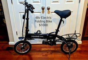 Fully Loaded 48v Electric Folding Bike! Free Delivery! for Sale in Happy Valley, OR