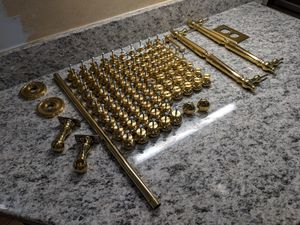 Brass brass brass knobs and pulls and fixtures for Sale in Concord, MA