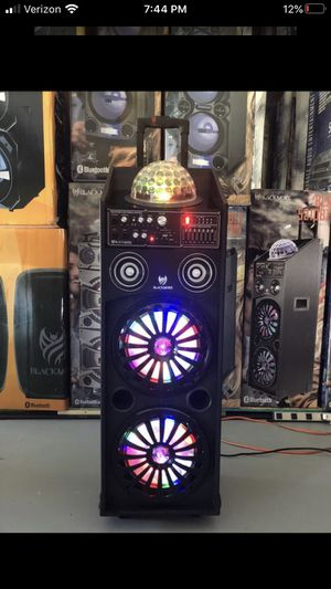 "Dual 10"" Bluetooth party speaker/ led light ball for Sale in Phoenix, AZ"
