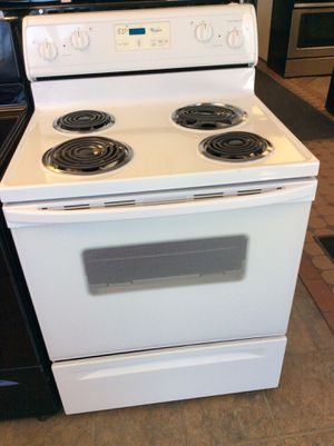 (Anoka 02-3093-DO HK) Whirlpool White Coil Top Electric Stove for Sale in Oak Grove, MN