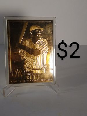 22K Gold Foil Babe Ruth Baseball Card for Sale in North Bellmore, NY