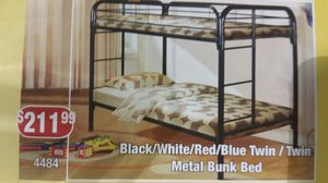 Bunk beds starting $299 with twin matress for Sale in Arbutus, MD