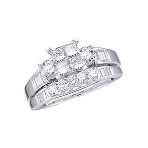 1.0 CTW Diamond Wedding Engagement Ring Set 10K Gold for Sale in Burlingame, CA