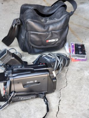 Cannon Video Camcorder w/Case Accessories for Sale in Middleburg Heights, OH