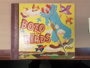 Vintage Bozo & The Birds, Child Album ,Story Book 2 Discs 1949 (A7) for Sale in Ontario, CA