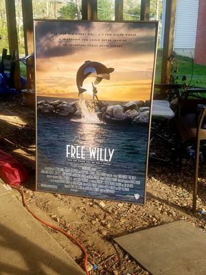 Vintage Free Willy Collectible Poster for Sale in Fairfax, VA