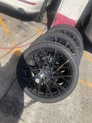 22inch rims & tires 285/35R22 106w for Sale in Hayward, CA