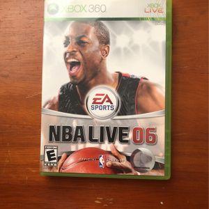 X Box 360 NBA Live 06 for Sale in Bridgeport, CT