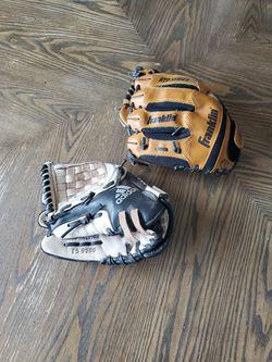2 Baseball Gloves (Adidas & Franklin) for Sale in Beaverton,  OR