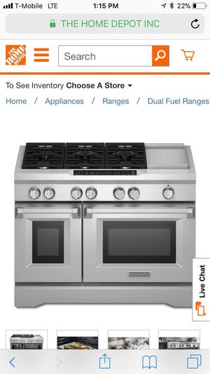 Brand new in the box kitchen aid double stove gas range for Sale in Houston, TX