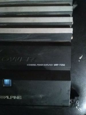 Alpine amp and fosgate amp for Sale in Fresno, CA