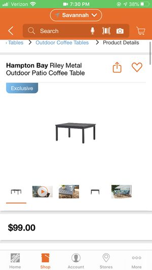 Outdoor patio coffee table for Sale in Savannah, GA