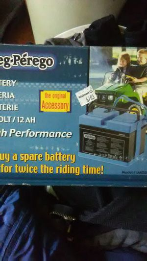 Peg-Perego 12 battery for Sale in Des Moines, WA