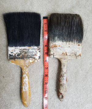 Vintage 4 Inch Wide Horse Hair Paint Brushes/Pair for Sale in MONTGOMRY VLG, MD