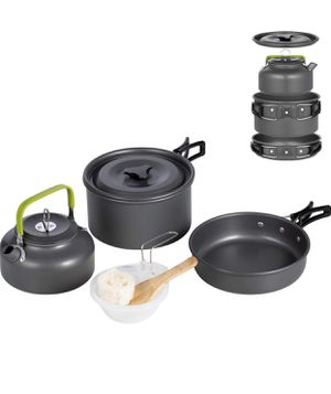Terra Hiker Camping Cookware, Non-Stick, Lightweight Pots, Pans with Mesh Bag for Backpacking, Hiking, Picnic for Sale in Las Vegas, NV