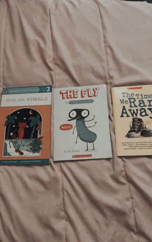 3 Easy starter books including (Fox On Wheels, The Fly, and The Time We Ran Away) for Sale in Anderson, SC