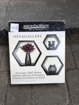 Aaron Brothers Hexagalery Wall Shelves for Sale in Lake Oswego, OR