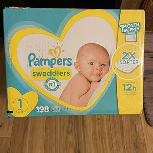 Pampers Diapers Size One for Sale in Baker, FL
