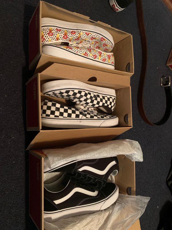 3 pairs of vanz