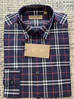 Burberry Nova Check Blue Plaid Shirt XS or SM NWT for Sale in Seattle, WA