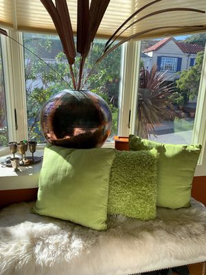 Set of 3 Lovely decorative throw pillows for Sale in San Francisco, CA
