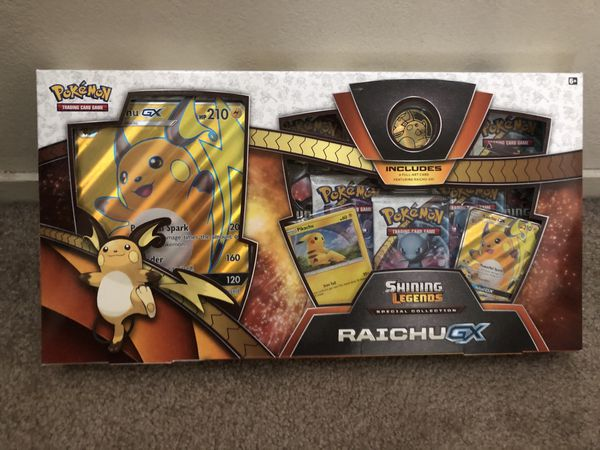 Raichu GX Box Shining Legends Special Collection Pokemon Cards TCG Shiny Card Jumbo Promo Holo Foil Holographic Rare