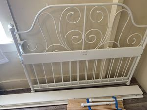 IKEA full size metal bed frame for Sale in Seattle, WA