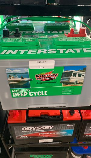 Interstate marine RV deep cycle battery brand new for Sale in Fontana, CA