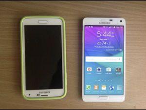 Samsung Galaxy S5 16Gb & Samsung Galaxy Note 4 32Gb Unlocked. for Sale in Ashburn, VA